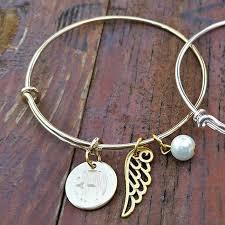monogram bangle bracelet engraved monogram bangle bracelet with charm squared