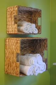 Small Bathroom Organization Ideas Bathroom Popular Wall Mounted Towel Rack Baskets For Small
