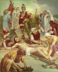 eleventh station jesus is nailed to the cross catholic way of