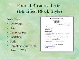 application letter format modified block style college