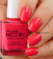 pure ice nail polish head to meadow swatches review be happy