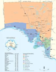 Regions World Map by South Australia Tourism Regions Map