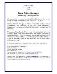 Sample Human Resource Manager Resume Assistant Front Office Manager Resumes Jianbochencom Office