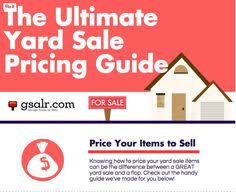 consignment sale pricing guide yard sale yards and yard sales