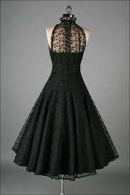 vintage 1950 u0027s paul sachs black tuxedo lace cocktail dress black