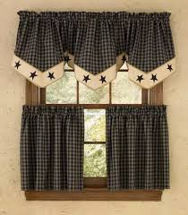 Country Porch Curtains Lined Single Point Curtain Valance