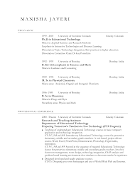 Adjunct Instructor Resume Sample by Faculty Resume Format Contegri Com