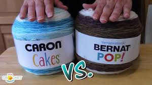 caron cakes vs bernat pop youtube