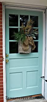 Painting Exterior Door Serendipity Refined Turquoise Painted Wood Exterior Doors