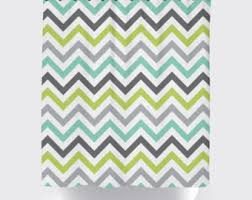 Gray Chevron Shower Curtain Custom Colors Shower Curtain Chevron Brown White Pastel Pink