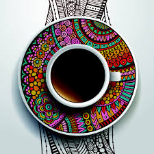 ethnic pattern ornaments and coffee cups vector 01 welovesolo