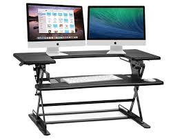 Height Adjustable Computer Desks by Halter Ed 600 Height Adjustable Sit Stand Desktop Black