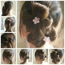 flower hair bun how to diy easy bun hairstyle using chopstick