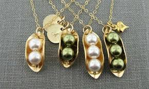 2 peas in a pod jewelry custom peas in a pod necklaces groupon goods