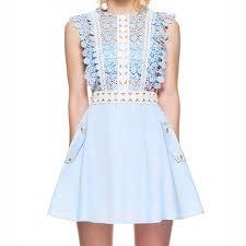 light blue sleeveless dress dresses skirts womens light blue lace sleeveless dress poshmark