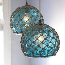 glass fishing float pendant light i can macrame and crochet where do i find the cut glass balls