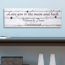 personalized canvas wall art walmart com personalized love you to the moon and back canvas