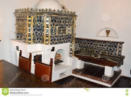 inside bran castle home of dracula brasov transylvania stock