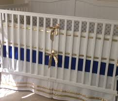 gold and royal blue crib bedding set by butterbeansboutique navy