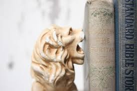 lion bookends vintage lion bookends omero home