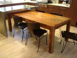 table as kitchen island making rustic kitchen tables as the focal point of your kitchen