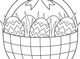 download easter egg basket coloring pages ziho coloring