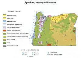 map of oregon detailed agriculture and industry map of oregon