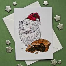 santa hamster and mince pie card conscious crafties