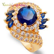 women big rings images Yunkingdom blue zircon rings women gold color anel big ring female jpg