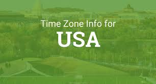 Time Zone Map For Usa Time Zones In The United States