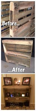 pallet entry table reclaimed and up cycled pallet project pallet wood rustic