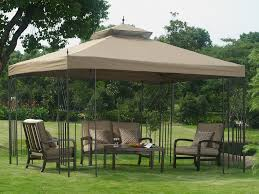 Metal Garden Chairs And Table Outdoor Metal Garden Gazebo On The Grass Yard Complete With Padded