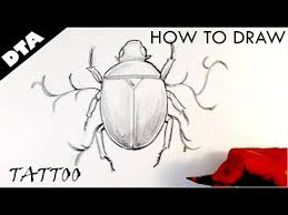 drawing an egyptian scarab tattoo design draw tattoo art youtube