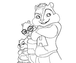 alvin chipmunks coloring pages free chipettes colouring