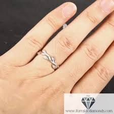 leaf wedding band deco 14k gold diamond branch and leaf pattern wedding band