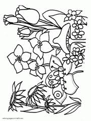 printable spring flowers spring coloring pages