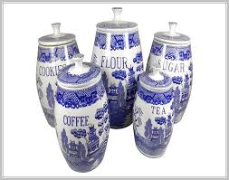 blue and white kitchen canisters blue and white kitchen canisters home design ideas