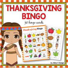 thanksgiving bingo by alina v design and resources tpt