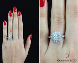 oval engagement ring with halo 1 53 carat oval halo engagement ring hd026