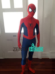 free shipping dhl 3d printing amazing spider man 2 costume 2017