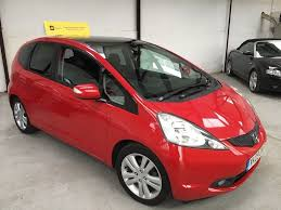 2009 honda jazz 1 4 ex 5dr in red full service history panoramic