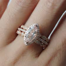morganite bridal set jewelry ideas collections
