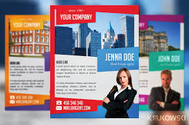 real estate agent flyer flyer templates creative market