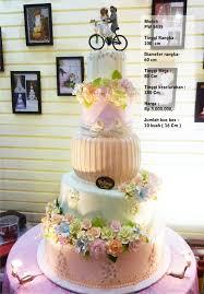 wedding cake harga wedding cake 5 tiers pelangi cake bridestory