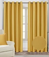 yellow blackout curtains sun zero talin blackout lined grommet