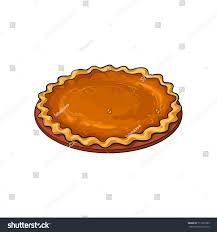pumpkin pie traditional thanksgiving stock vector