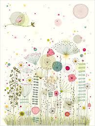 poster chambre fille affiche thème fleurs nature déco chambre fille amélie biggs