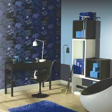 street wise graffiti arthouse wallpaper in blue silver and white