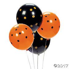 black balloons black orange polka dot 11 balloons trading