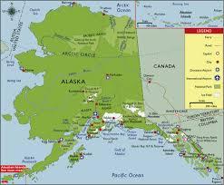 alaska major cities map alaska major cities images
